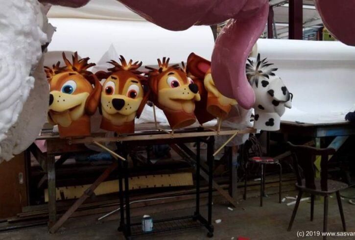 Piepschuim Poppen honden, Hondenkoppen foam, hondenpakken - Afbeelding5